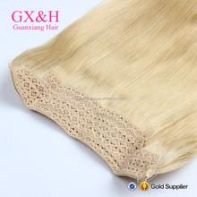 100% virgin human hair Remy hair flip in hair extensions
