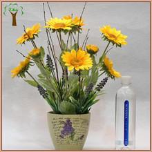artificial sunflowers arrangement in planter