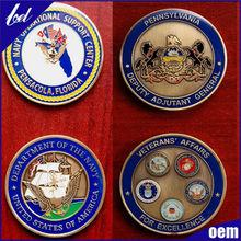 2015 Top sell factory price custom sport medal metal badge gold medal