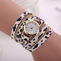 New Casual Summer Style Leopard Grain Fabric Bracelet Wristwatch Women Fashion Watch Relogios Femininos Watch