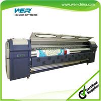 3.2m 4 PCS SPT510 outdoor solvent banner polythene printing machine