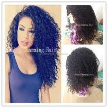 2015 new fashion virgin human hair brazilian curly wig 100 human hair natural curly wigs for black women bleached knots