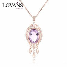 Russia Jewelry Pendant Set Best Friend Forever Pendant Rose Gold Plated Jewellery SPG459R