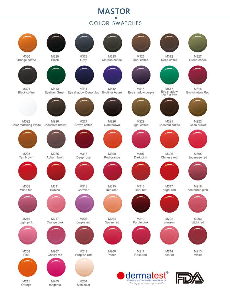 Oem Service 52 Colors Never Change Color Best Permanent Makeup Ink