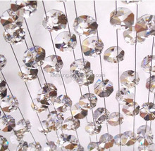 Decorative octagon crystal bead curtain for decoration