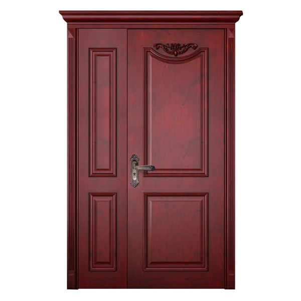 2014 new design nature modern solid teak wood main door