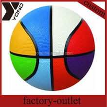 wholesale rubber basketball OEM balls YN-811 Custom Design Basketball Material Cheap Ball