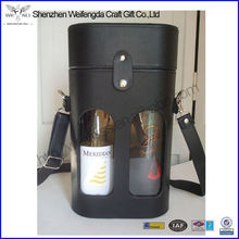 New Style Window Leather Wine Bottle Carrying Case