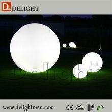 Illuminated led lighted rechargable modern design led sphere light