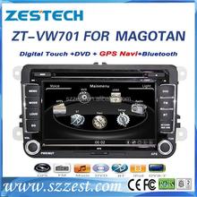 "ZESTECH Factory OEM 7"" gps/radio/3G/BT/Dvd player, for volkswagen passat b6 navigation system"