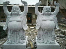 Garden Temple Carve Stone Sculptures Laughing Buddha Statue