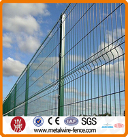 PVC coated bending welded wire mesh fence