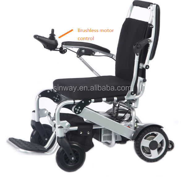 Lightweight Portable Electric Wheelchairs With Brushless