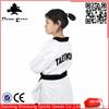2015 wholesale pinetree Ultra light martial arts dobok black V-neck taekwondo uniform for adult