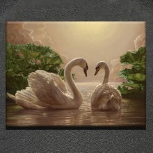 Animal knife oil paintings design of swan