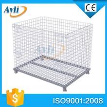 Lockable folding steel warehouse cage