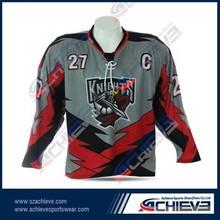 hot sale custom league ice hockey shirt & sublimation hockey shirts