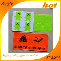 factroy price glow in the dark fluorescent sticker Reflective,safety gift halloween reflective stickers