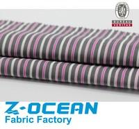 pink white stripe printed corduroy fabric