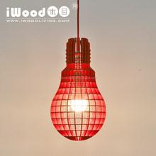 Dinning room Bulb shape wooden crafts lighting