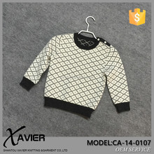 CA-14-0107 kids trendy clothing jacquard sweater argyle knitting pattern children knitted pullover sweater