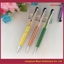 Metal Crystal Touch Pen, crystal pen set,2015 Novelty crystal pen