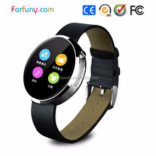 new fashion round style Bluetooth watch for smart phone with android and IOS