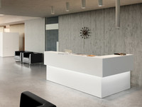 Eco-friendly hospital clinic front desk, reception counter for hotel, supermarket reception desk
