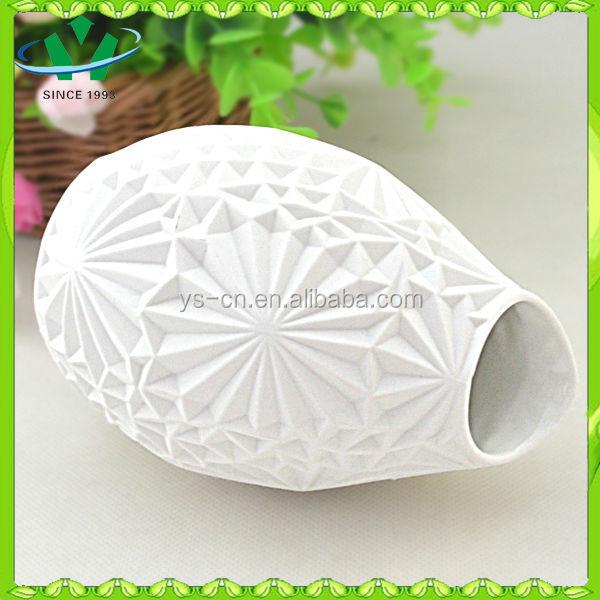 Hot selling white home decor flower vase