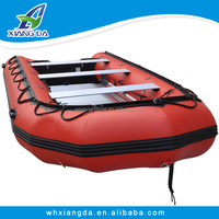 China Factory PVC Hull 8m Wooden Floor Korean Inflatable Boats