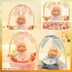 Lovely Basket Shook Head Baby Music Box as Gift MB 029