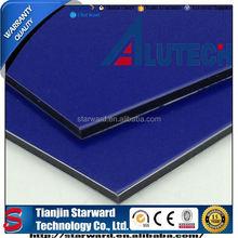 New Design Deep Blue 4mm 0.35mm PVDF Coated ACP Curtain Wall
