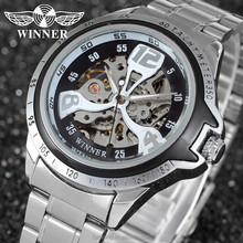 2015 2G8049M4T Winner unique design with san-flower skeleton imported bracelet western watches factory price
