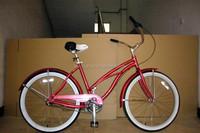 lady beach bike/beach cruiser bicycle /26'' Lady Beach Bicycle/ Women beach Bike/ adult chopper bicycle beach cruiser bike