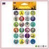 High Quality Customizable Halloween colorful epoxy sticker Silvery Epoxy Resin Sticker