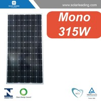 36V 315W mono black color solar panels solar PV modules with high efficiency, with long term warranty