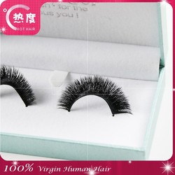 2015 Indonesia 100% Real Hair False Eyelashes Top Hand-made Cotton Stems Thick, Soft Natural Nude Makeup free Shipping