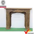 Pared de madera recuperada chimenea decorativa