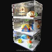 3tiers luxury custom handmake hamster cage with accessories