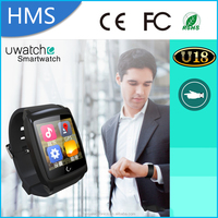 Xmas gift~Android 4.4 wifi smart watch phone camera GPS and SIM card 3g smartwatch U18