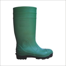 PVC safety shoes and work shoes with green color