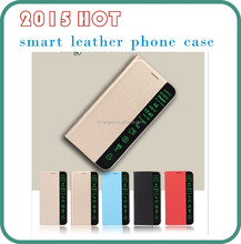 2015 hot sell model smart leather phone case for samsung S6,S5