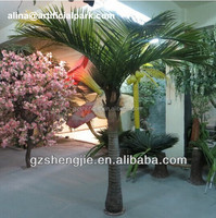 GZ shengjie Plastic artificial coconut palm tree for best selling