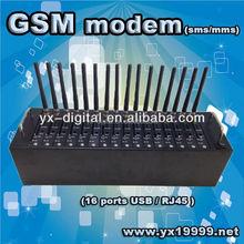 16 Ports bulk sms modem usb/rj45/rs232 interface gsm wavecom modem quad band gsm modem