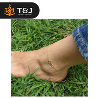 >>2015 New Fashion Simple Gold Alloy 8 Shape Design Foot Feet Ankle Chain Anklet Bracelet Women Girl Charm Jewelry-