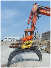 Excavator hydraulic wood grapple