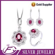 Stylish style white cz stone 925 sterling silver large size jewelry