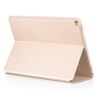 Tablet Use Premium Golden PU Leather Mobile Phone Case Cover for iPad Pro