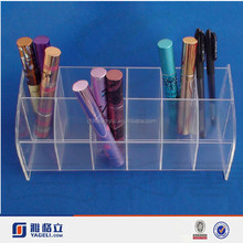 customized acrylic cosmetic eyeliner holder /eye lasher display stand/lip balm containers