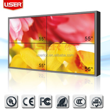 Advertising video wall with advertising player HDMI/DVI/VGA/AV